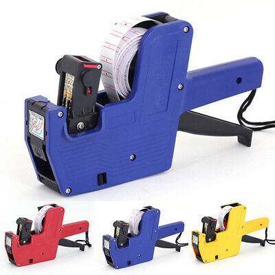 New MX-5500 8 Digits Price Numerical Tag Gun Labeler Maker Sticker Labels Tools