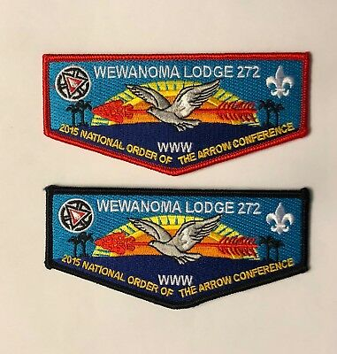 Wewanoma Lodge Centennial NOAC 2015 patch set