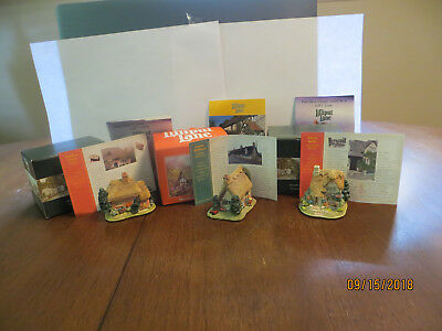 3 Lilliput Lane - Silver Bells, Golden Years & Sweet William - Free Shipping