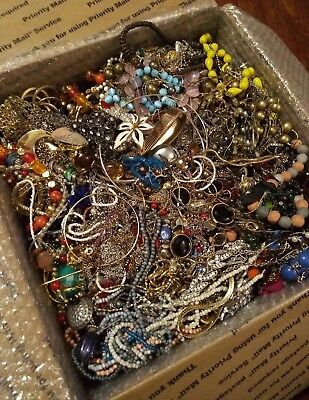 25 Lbs Huge Vintage 2 Now Jewelry Lot - Estate Tangled Resale Harvest Craft Wear