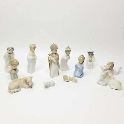 Lladro Nativity Set Miniature Ornaments w/ Original Boxes 5657,5729,6095 ,5809