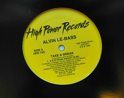 "12"" Us**alvin Le-Bass - Take A Break (High Power Records '89)***15835"