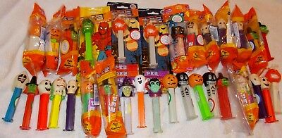 Lot of 32 Vintage Halloween Pez Dispensers, some glow in the dark