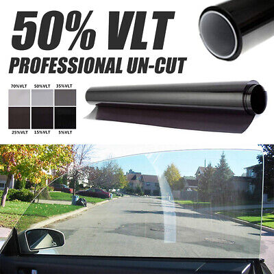 New Black Glass Window Tint Shade Film VLT 50% Auto Car House Roll 50cm*1M