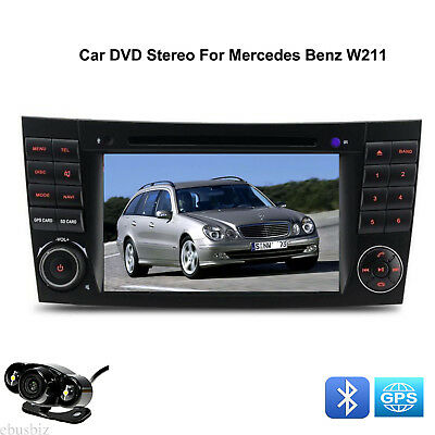 2DIN Car DVD Stereo Player GPS HD Touch RDS Radio SD For Mercedes Benz W219 W211