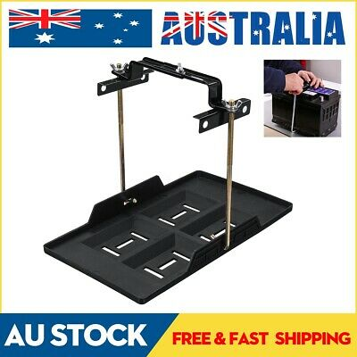 Universal Car Battery Tray Adjustable Hold Down Clamp Bracket Cycle 23 x 34.5CM