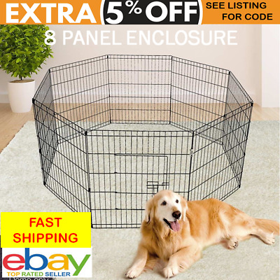 Foldable Dog Playpen Pet Rabbit Guinea Pig Puppy Duck Kitten Outdoor Fence Space