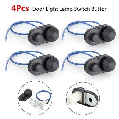 4Pcs Universal Car Interior Door Courtesy Light Lamp Switch Button Black new