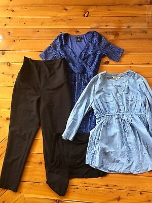 Maternity Office Clothes Bundle - Size 10 - Navy Blue