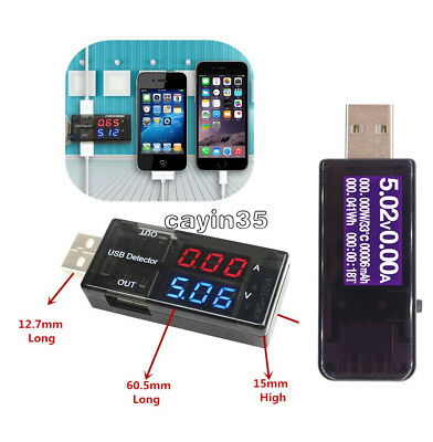 LCD Display USB Charger Doctor Current Voltage Detector Voltmeter Ammeter Tester
