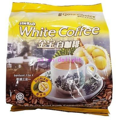 Gold Choice Jinbao White Coffee Durian 3 in 1 Instant white coffee (35g x 15 s)