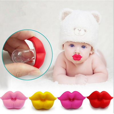 Funny Silicone Baby Infant Pacifier Orthodontic Nipple Dummy Kiss Lips Soothers