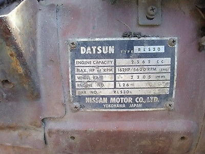 1974 Datsun Z-Series  Datsun 260z RLS30 w/ 2 Engines . 1mounted and one as a back up look at PICTURES