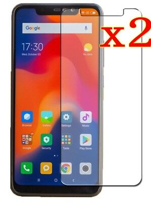 2Pcs Premium Real 9H Tempered Glass Screen Protector for Xiaomi Redmi Note 6 Pro