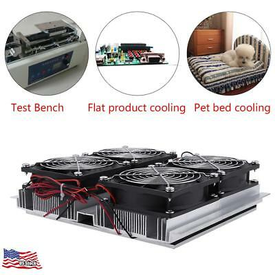 12v  Semiconductor Refrigeration Thermoelectric Peltier Cold Plate Cooler W/ Fan