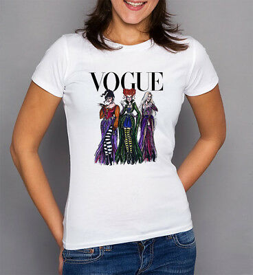 903522700 Sanderson Sisters Hocus Pocus Vogue Shirt White New Adult Women T-Shirt  S-2XL