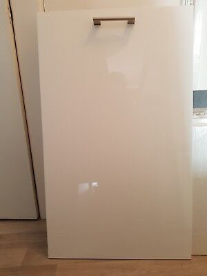 IKEA WHITE GLOSS kitchen drawers - 3 x 80cm wide sets of 3
