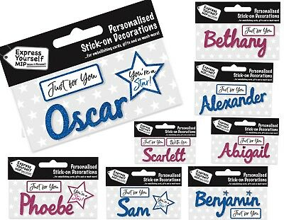Personalised Name Stickers Gift Tags Labels Birthday Christmas Gift Decoration