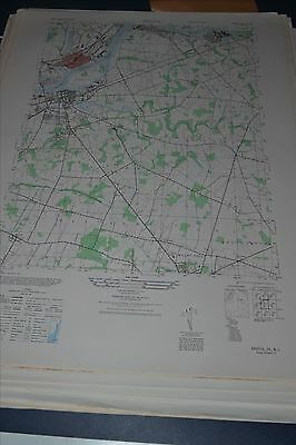 1940's Army (like USGS) topo map Bristol New Jersey 6064 III SE Burlington
