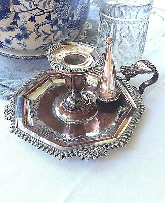 Chamber stick Silver Plated Victorian - Candlestick
