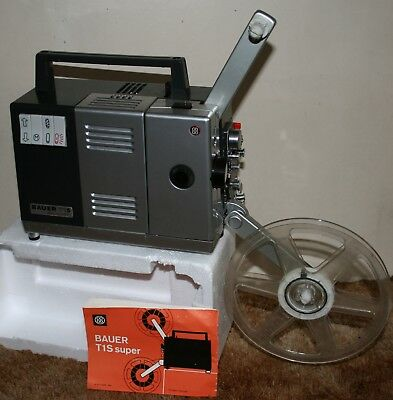 Bauer T1S Super - Super 8mm Film Projector Silent With Box & Instructions - RARE