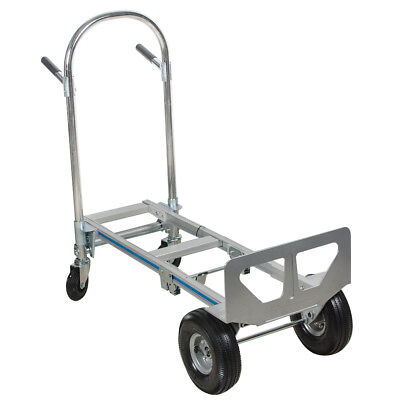 2in1 Aluminum Hand Truck 770LBS Convertible Foldable Dolly 4Wheel Cart Industry