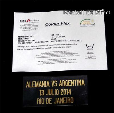 Official Argentina v Germany world cup 2014 Final Football Shirt Match Detail