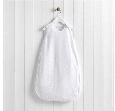 The Little White Company White Velour Grey Star Sleeping Bag 1 Tog 6-18 Months