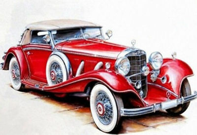 Cartoon Vintage Car DIY 5D Diamond Painting Fashion Full drill Embroidery /3002