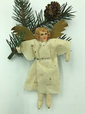 Nice Early Cotton Angel Gold Wings Feather Tree