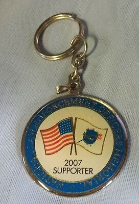National Law Enforcement Officers Memorial 2007 Supporter American Flag Keychain