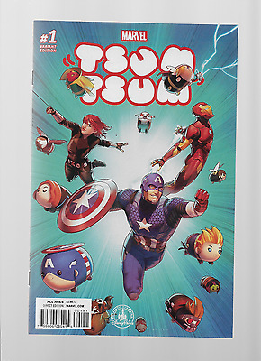 Disney PARKS TSUM TSUM #1 MARVEL RARE VARIANT COMIC W/LOW PRINT RUN SOLD OUT