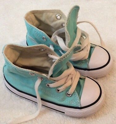 Converse Baby Girl High Top Trainers Size 7