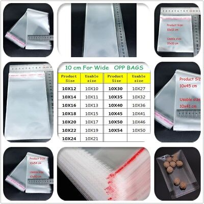 500 1.5 Mil Bags Self Seal Resealable Clear Poly Plastic Opp Bag Lip & Tape
