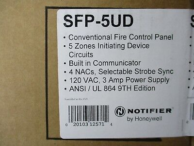 (New) Notifier Sfp-5Ud - 5 Zone Conventional Fire Control Panel
