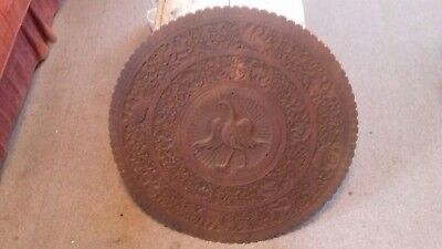 A Vintage Indian Carved Table Top/Wall Plaque