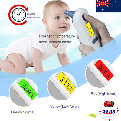 Dual Mode IR Infrared Digital Medical Forehead Ear Thermometer for Baby Adult CT