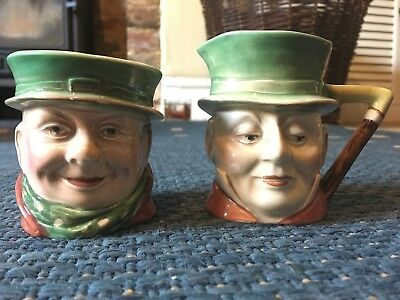 Beswick toby jugs Tony Weller 673 and Micawler 674