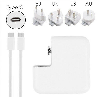 30/61/87W US MacBook USB-C Power Adapter AC Supply Charger+USB-C Charging Cable