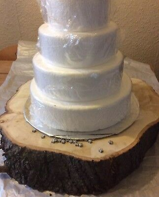Rustic Eng' Lime Wood Tree/log Slice Wedding Cake/cheese Stand 50-43cm Diameter