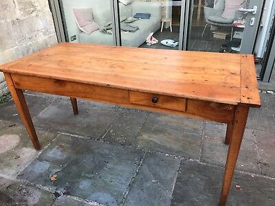 Vintage French Farmhouse Fruitwood Dining Table