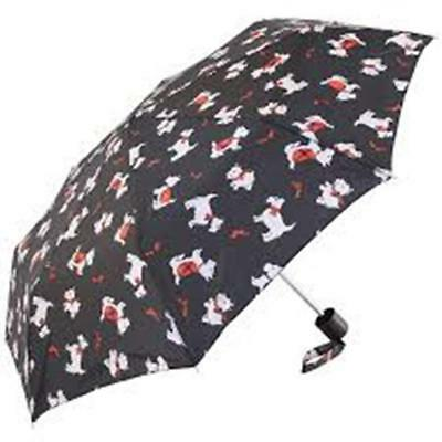 Incognito Scottie Dog Pattern Umbrella With Compact Folding Open Mini De Design
