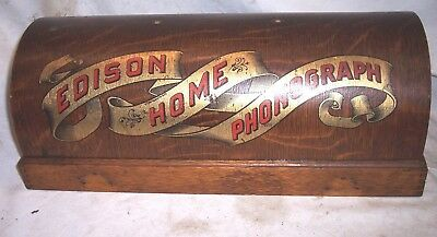 Early Edison Home Suitcase Phonograph Top