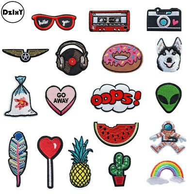(30 Differents Styles) Animals Parches Embroidery Iron on Patches for Clothing D