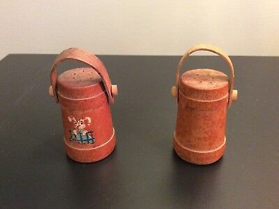 Set Of Vintage Wooden Salt And Pepper Shakers 3 5 Tall