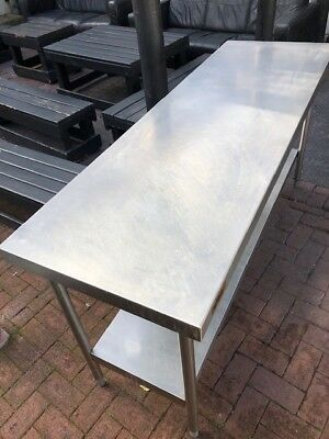 Stainless Steel Catering Prep Table Kitchen Butchers Bakers