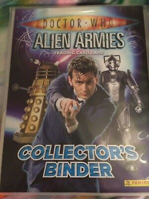 Doctor Who Alien Armies Trading Card Game & folder Collector's Binder + 19 cards