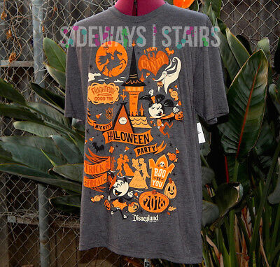 MICKEYS HALLOWEEN PARTY 2018 TSHIRT M official disneyland disney parks retired