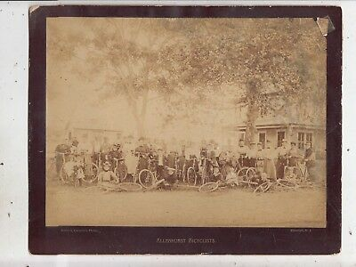 1890s ALLENHURST, NJ CYCLING CLUB IMPERIAL CABINET PHOTO