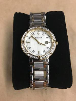 Bulova 98R260 Women's 30mm Quartz Diamond Accent Two-Tone Watch- NO MANUAL